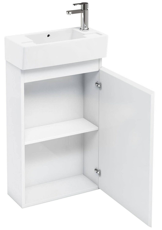 Britton Aqua Cabinets Compact 250 White Floor Unit And RH