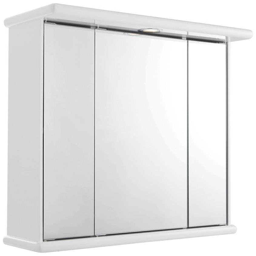 Lauren Cryptic 700mm Triple Door Mirrored Cabinet With Light