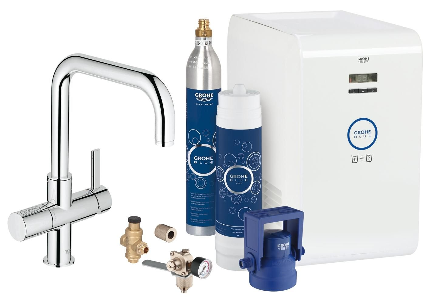 Grohe Blue Professional Kitchen Sink Mixer Tap With Starter Kit-31324001