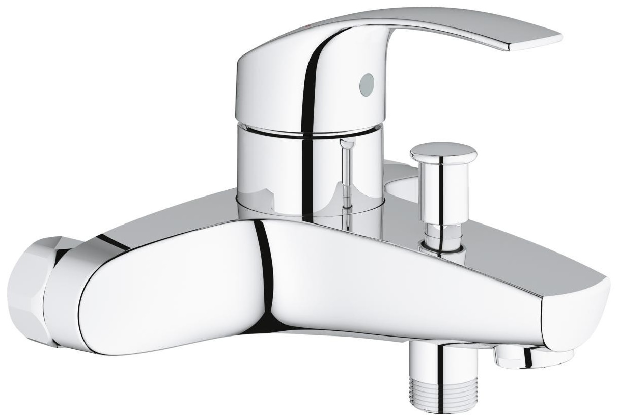 grohe eurosmart half inch single lever bath shower mixer. Black Bedroom Furniture Sets. Home Design Ideas