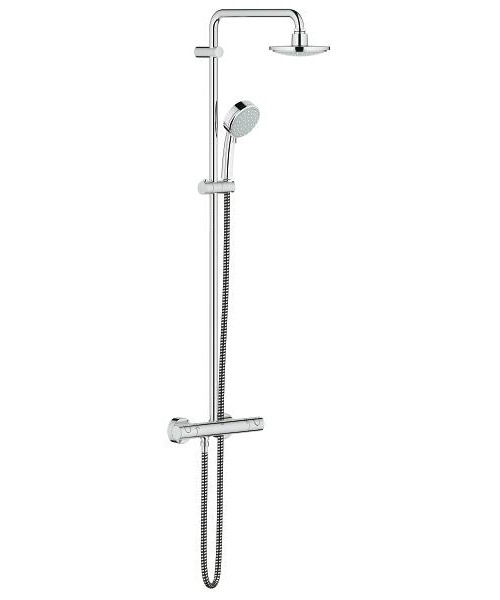 grohe new tempesta cosmopolitan 160 with thermostat for wall mounting. Black Bedroom Furniture Sets. Home Design Ideas