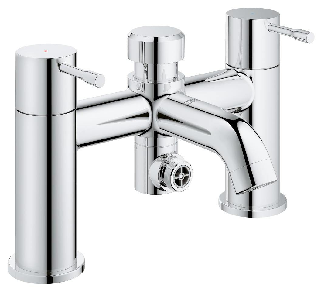 grohe essence deck mounted bath shower mixer tap 25173001. Black Bedroom Furniture Sets. Home Design Ideas