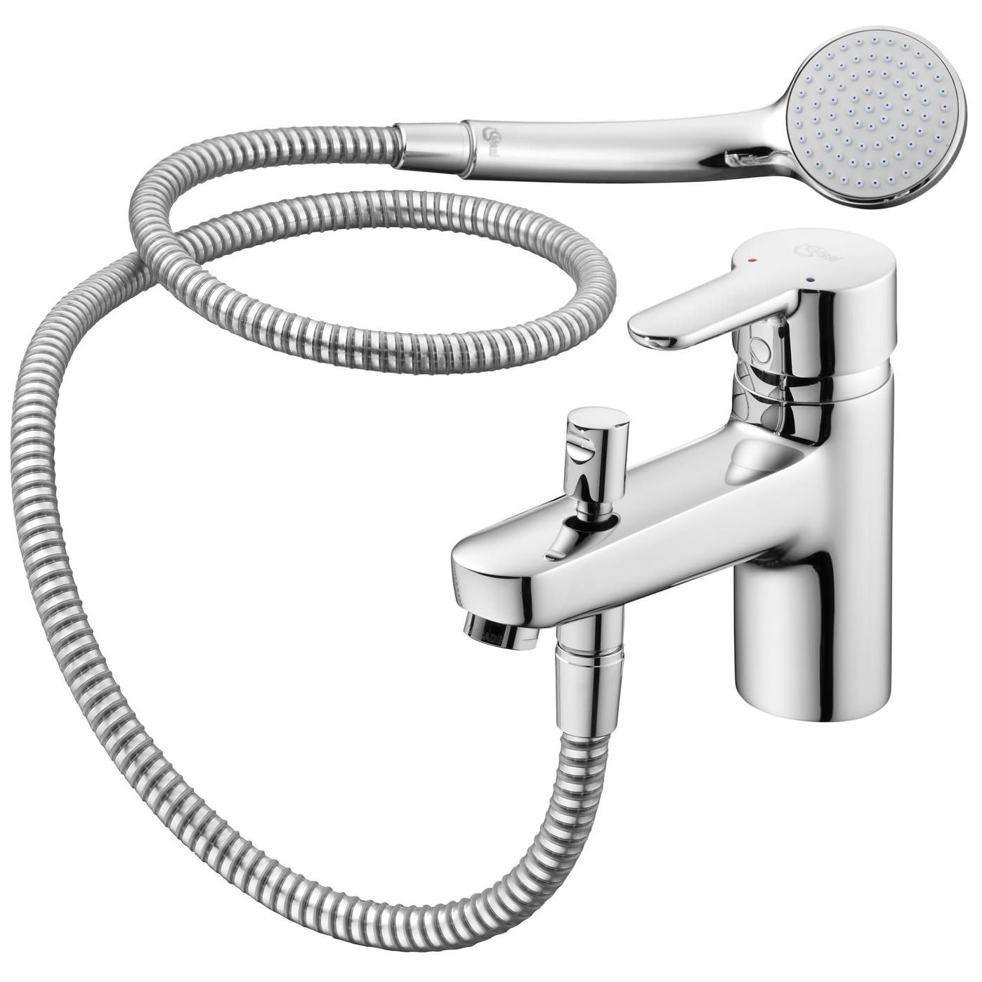 ideal standard concept blue single lever bath shower mixer tap