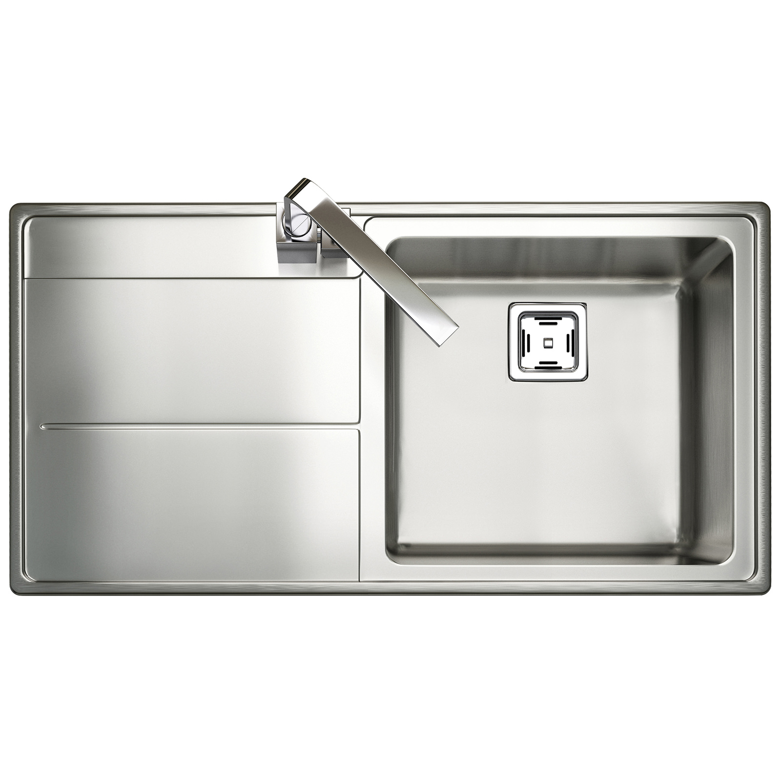 Rangemaster Arlington 985 x 508mm Stainless Steel 1.0B Inset Kitchen ...