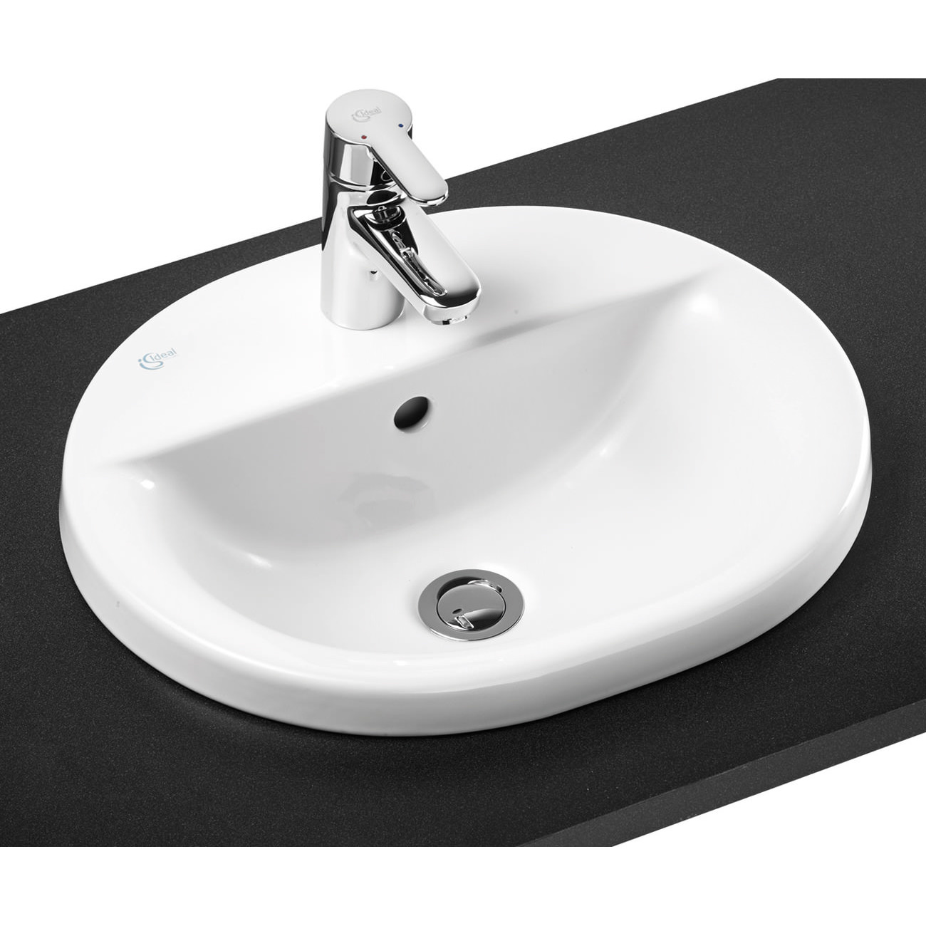 Ideal Standard Concept Oval 1 Tap Hole Countertop Basin
