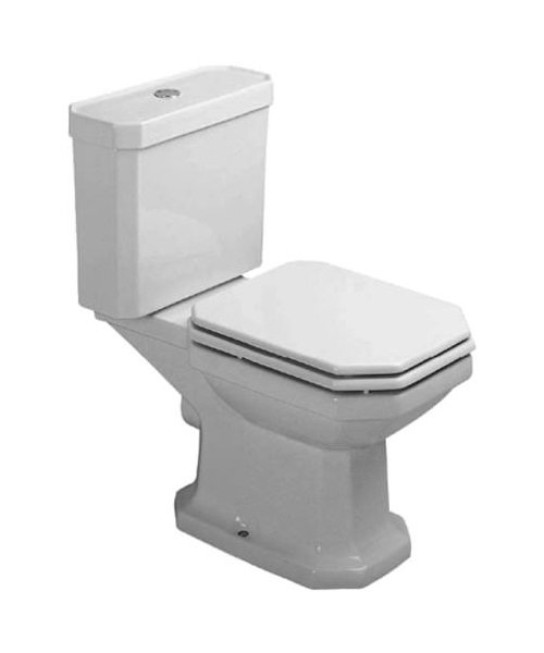 duravit 1930 series close coupled wc pan with cistern and flexible hose. Black Bedroom Furniture Sets. Home Design Ideas