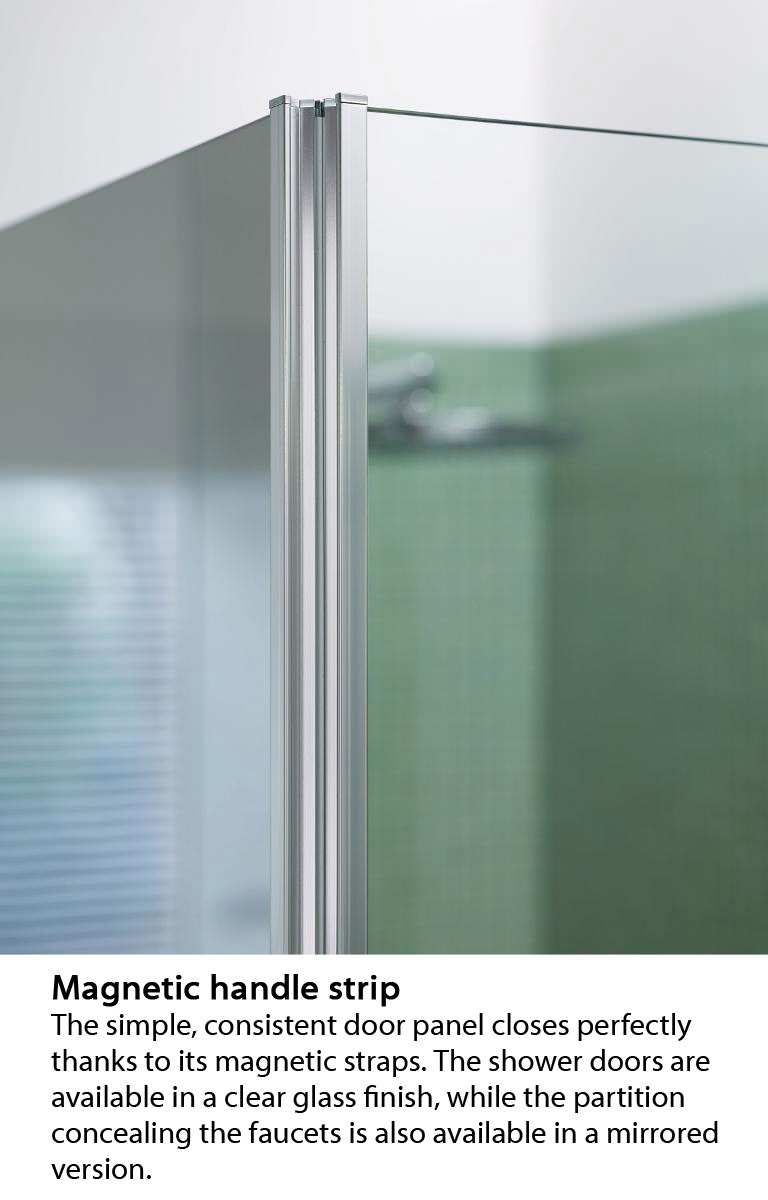 Duravit OpenSpace B 985 x 885mm Rectangle Shower Screen For Tap On ...