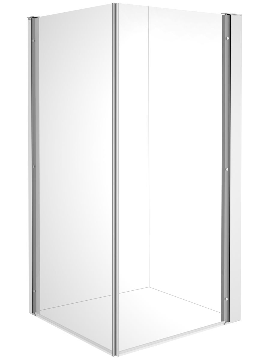 Duravit OpenSpace B 885 x 885mm Square Shower Screen For Tap On Left ...