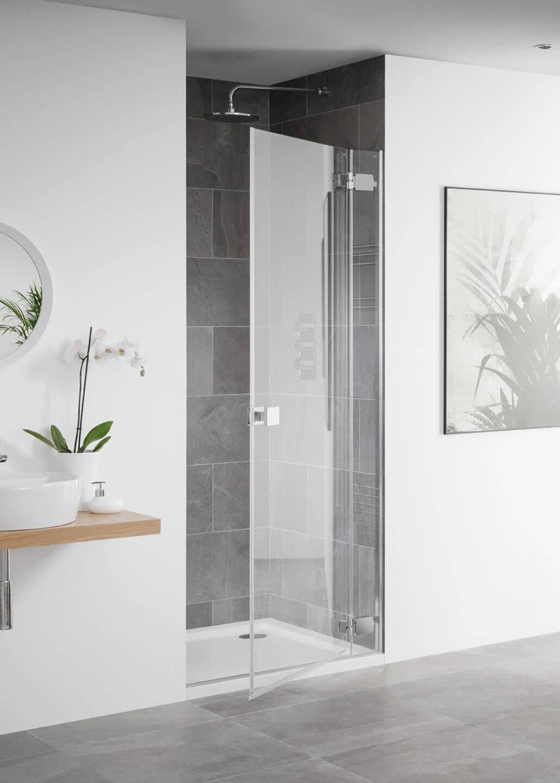 Lakes Island Barbados Frameless Hinge Shower Door 750 X 2000mm