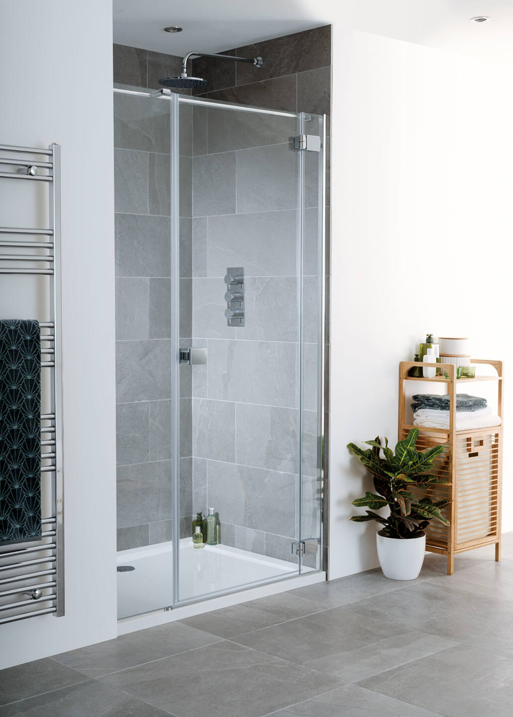 Lakes Island Cayman 1200 X 2000mm Hinge Shower Door And Inline Panel