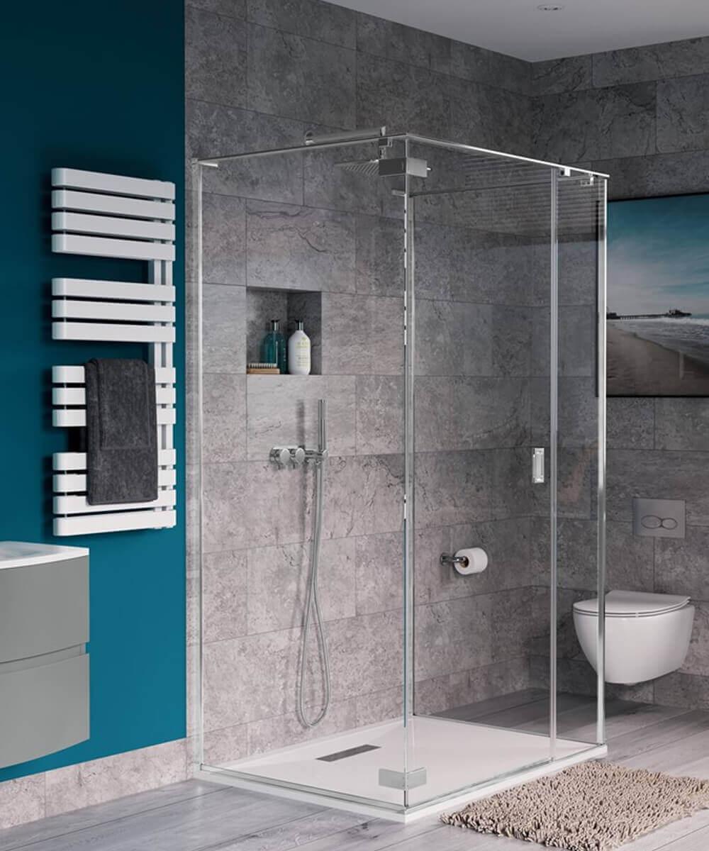 Crosswater Svelte Three Sided Hinged Door Shower Enclosure 900 X 900mm