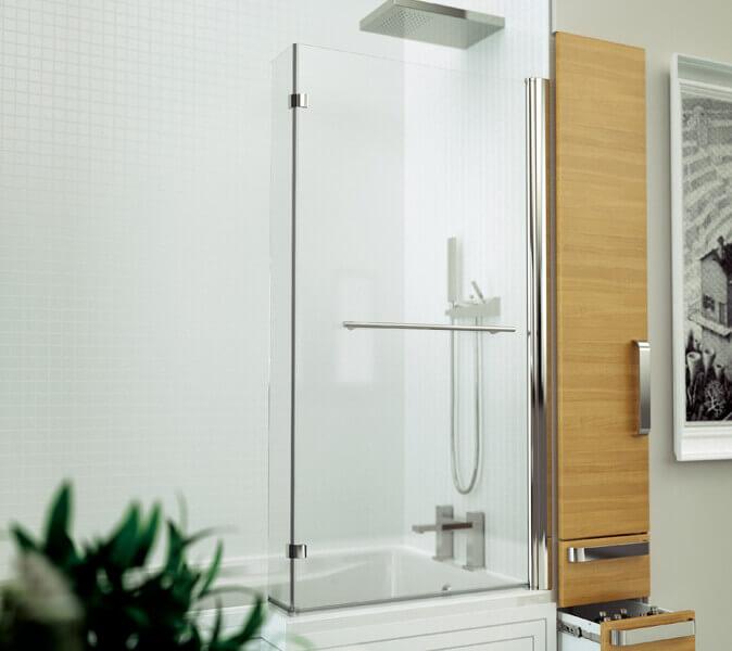 Kudos Inspire L Shaped Shower Bath Screen 3baskl