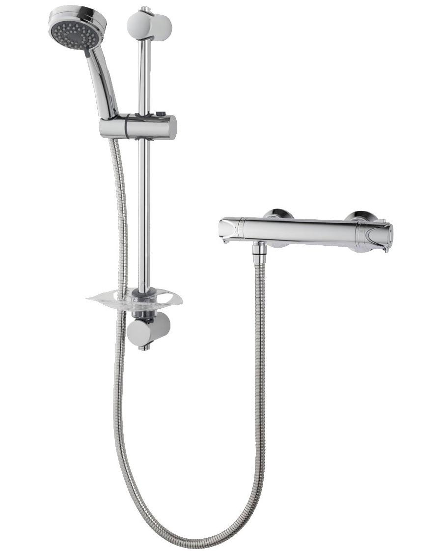 Triton Dene Hi-Flo Bar Mixer Shower Valve With Shower Kit