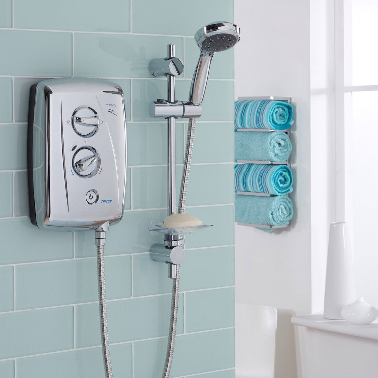 Fit Electric Towel Rail Bathroom Best House Interior Today Wiring Triton T80z Fast Shower 9 5 Kw Chrome Install