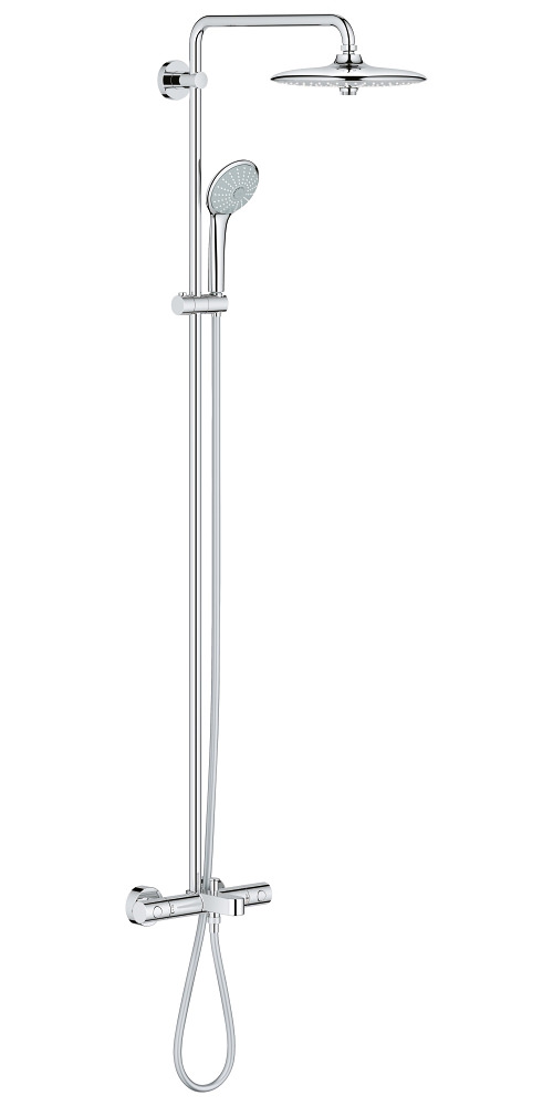 grohe euphoria 260 shower system with bath thermostat valve. Black Bedroom Furniture Sets. Home Design Ideas