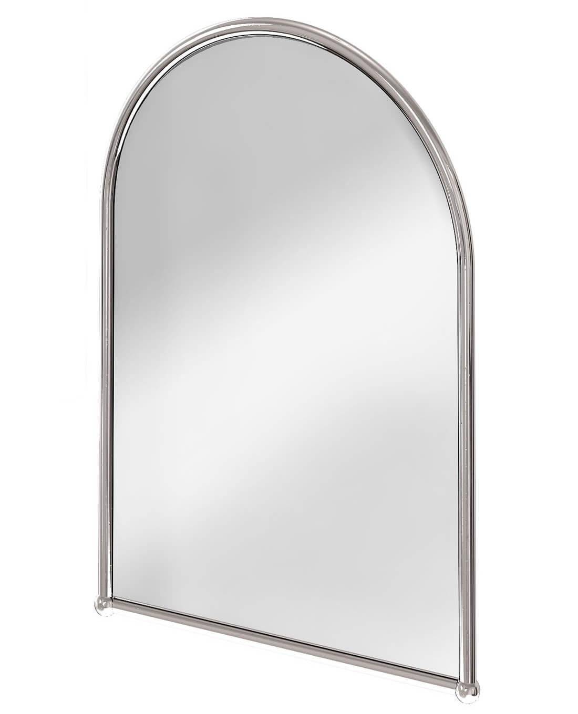 Burlington Arched Mirror With Chrome Frame
