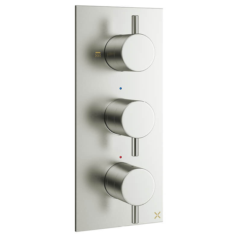 Crosswater Mpro Vertical Thermostatic Shower Valve With 3
