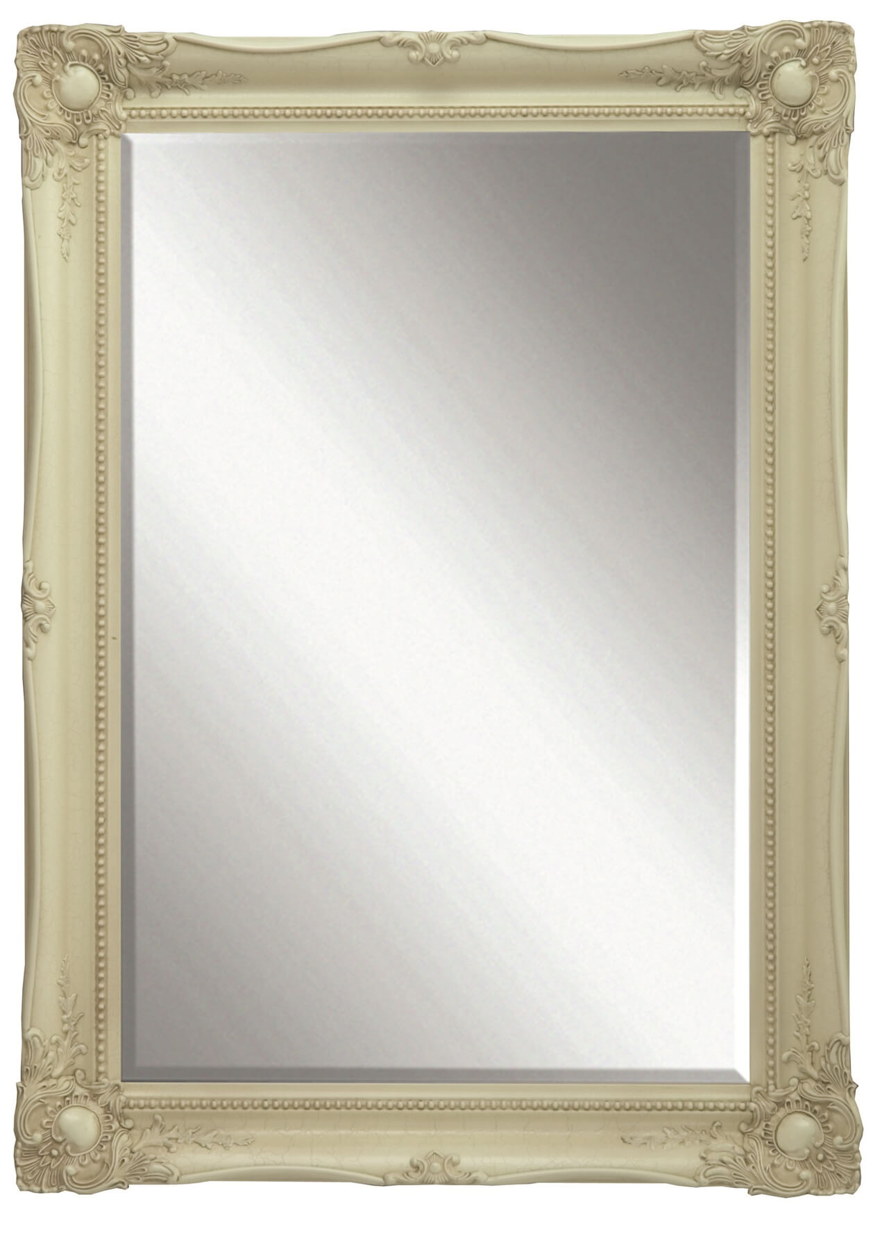 Heritage Balham 660 x 910mm Cream Wooden Framed Mirror