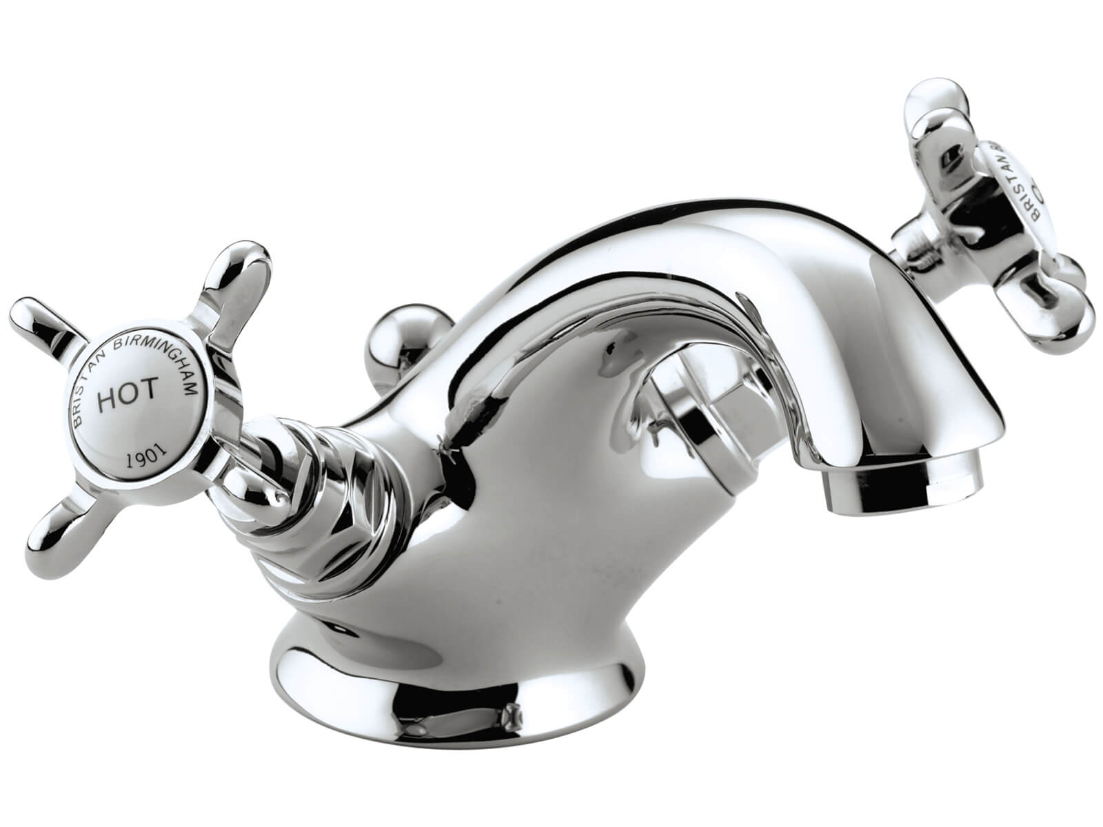Bristan 1901 Chrome Basin Mixer Tap With Pop Up Waste