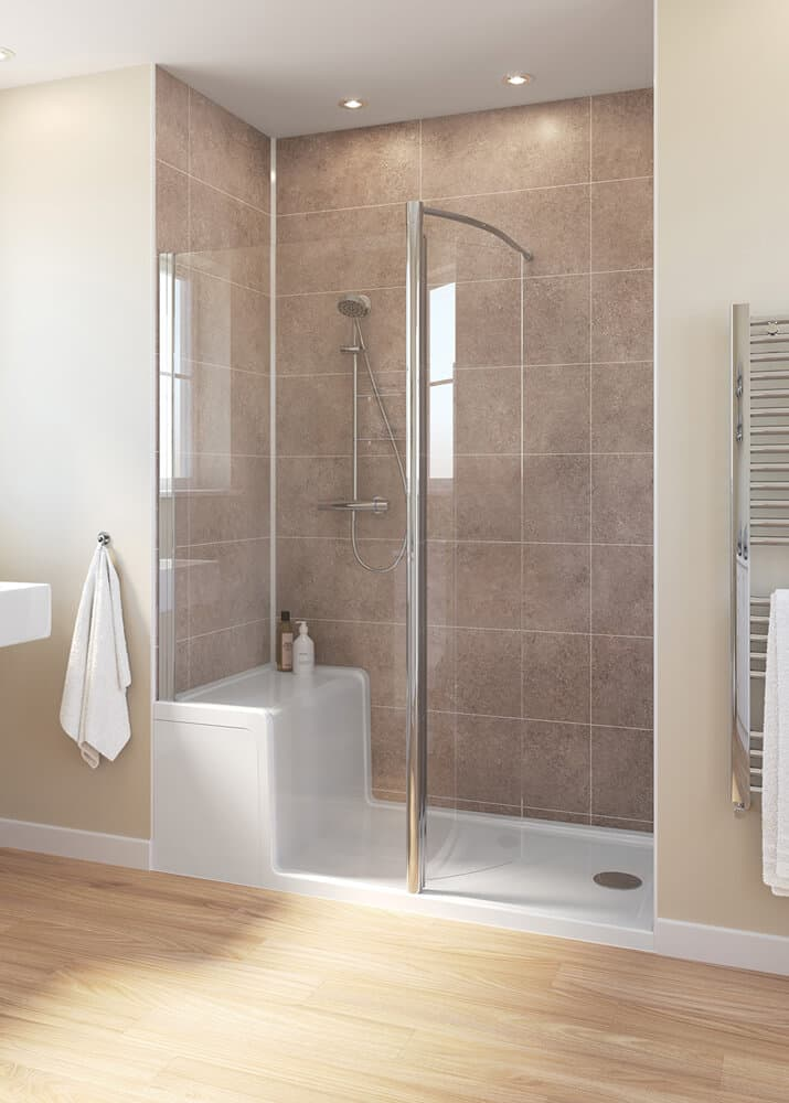 Lakes Classic Walk In Shower Enclosure With Seated Shower