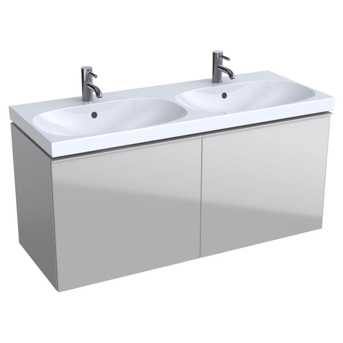 Geberit Acanto 1200 X 482mm Two Drawers Vanity Unit And Double Basin