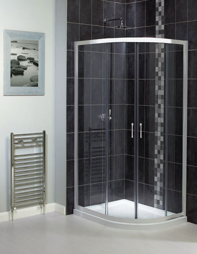 Aqualux shine off set quadrant shower enclosure 760mm x 900mm for 1800mm high shower door