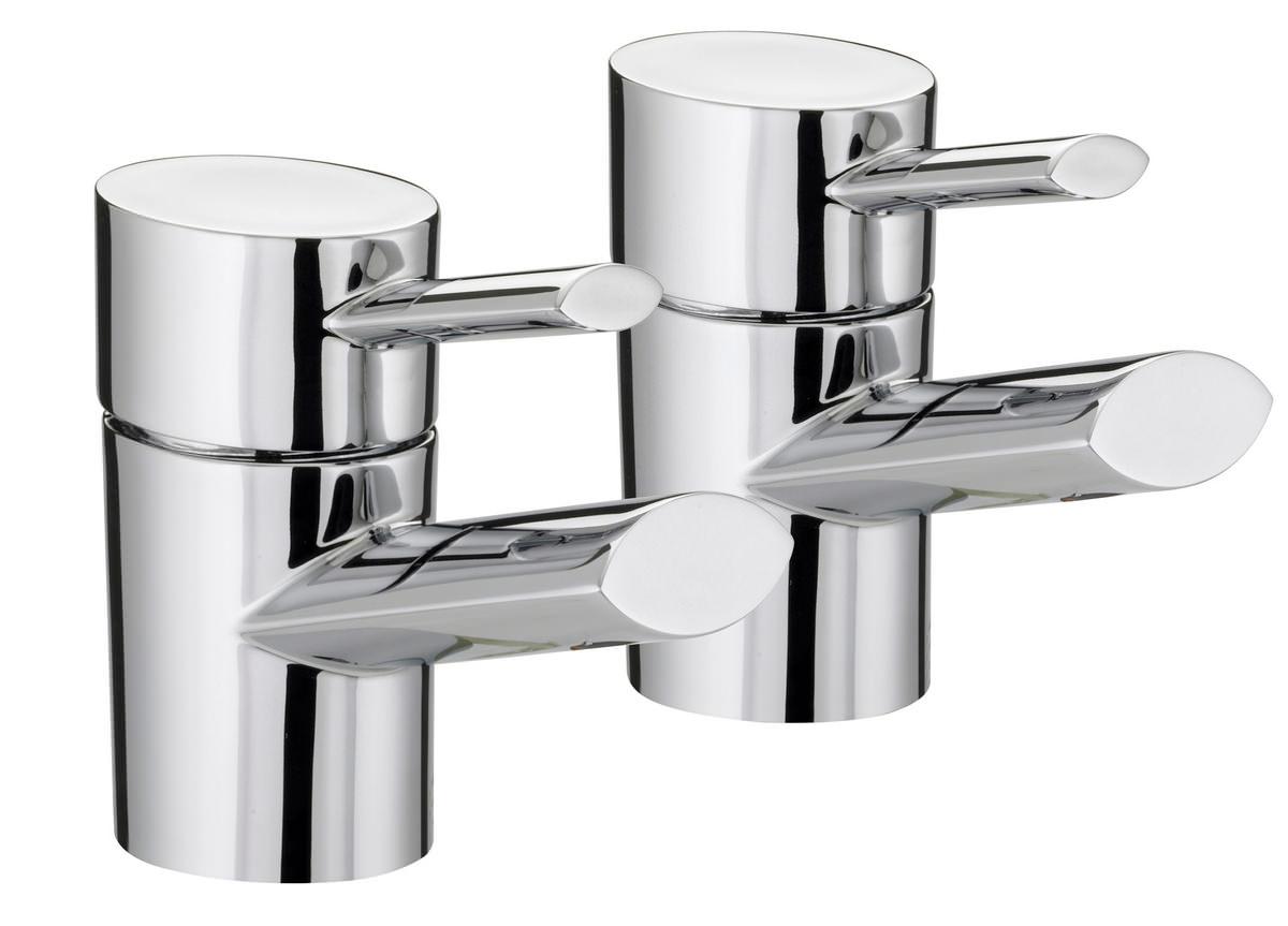 Chrome Bristan Kitchen Taps: Bristan Oval Chrome Plated Bath Taps Pair