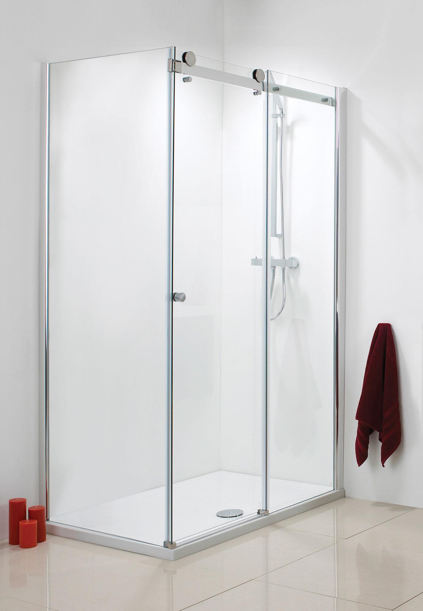 Phoenix Frame Less Single Slider Shower Door 1200mm