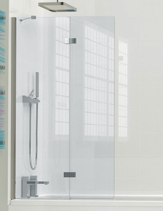 Kudos inspire 2 panel in fold bath screen 1500 x 875mm for 1800mm high shower door
