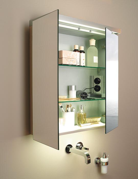 Duravit Fogo American Walnut Finish 1000mm Mirror Cabinet