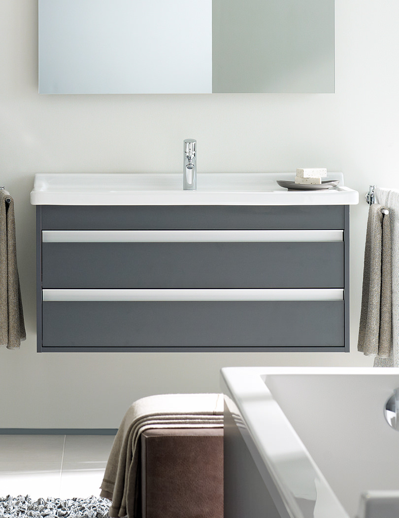 Duravit Ketho Double Drawer 800mm Vanity Unit With 850mm Basin