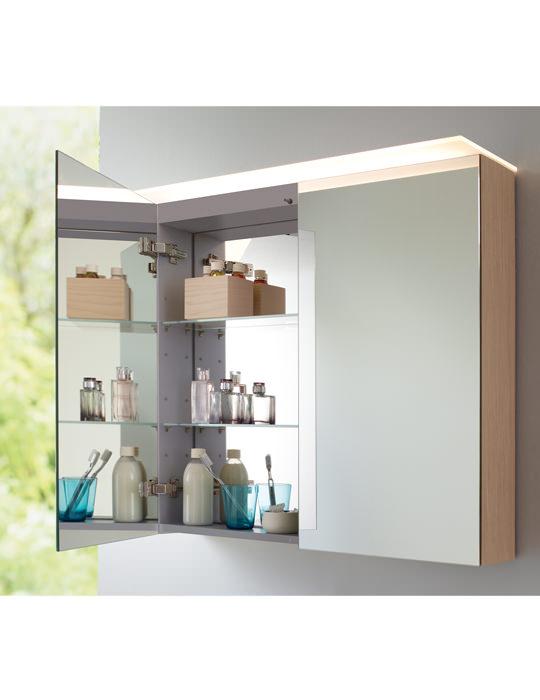 Duravit X Large 800mm White Matt Mirror Cabinet