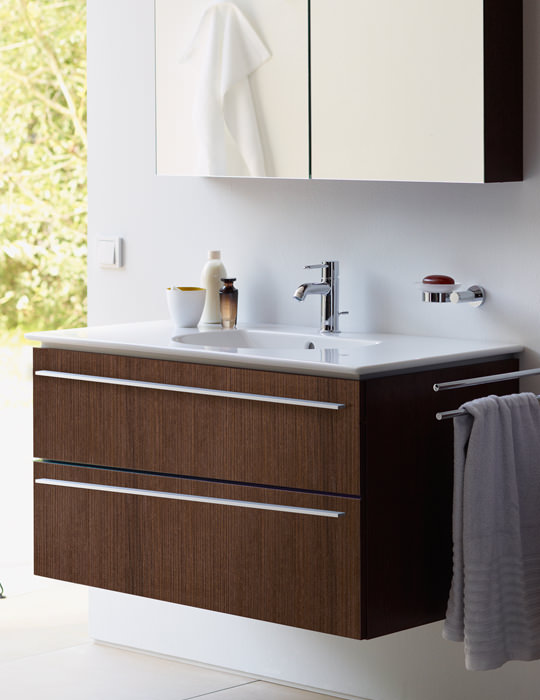 duravit xlarge 1000mm 2 drawers vanity unit with vero basin - Duravit Sink