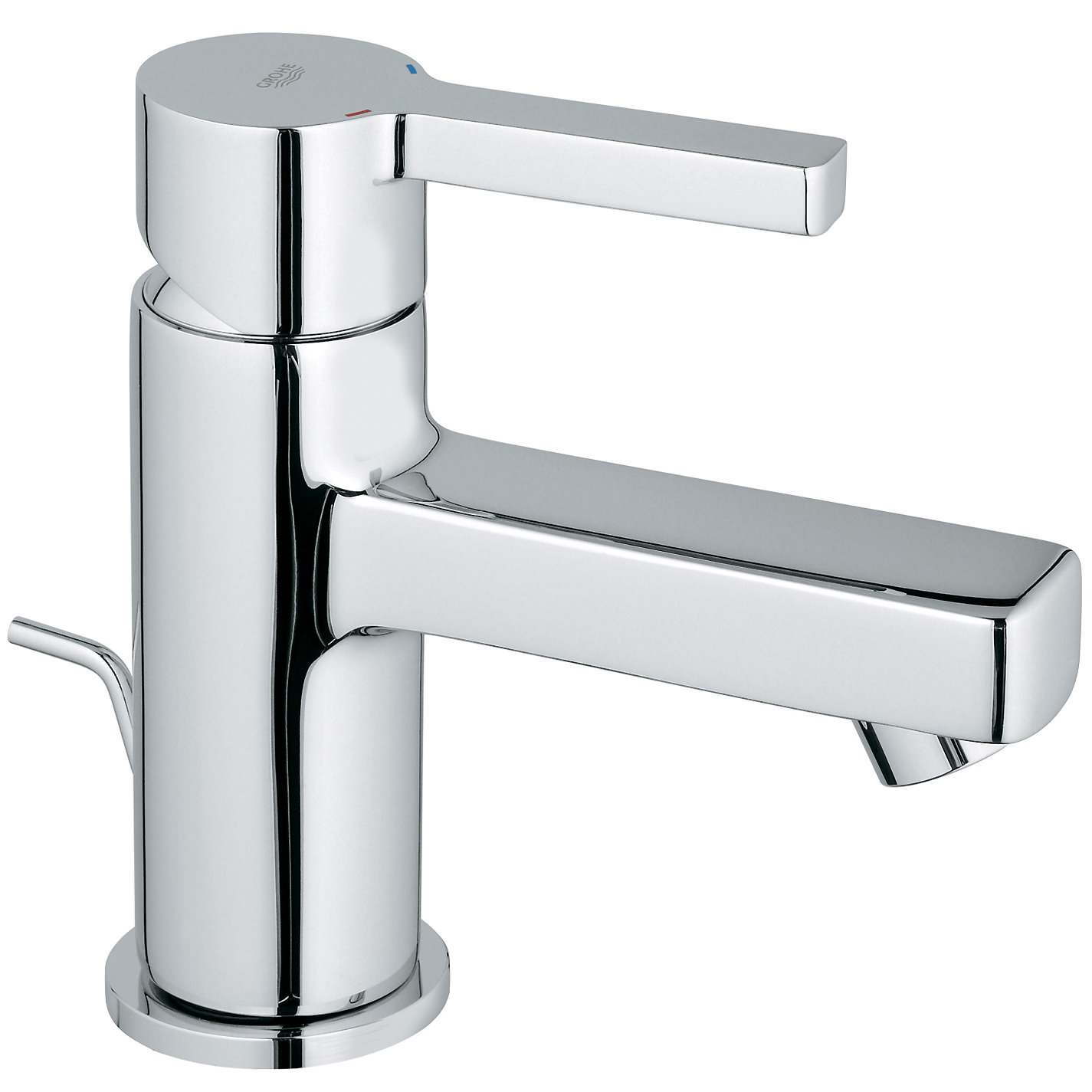 grohe lineare basin mixer tap with pop up waste. Black Bedroom Furniture Sets. Home Design Ideas