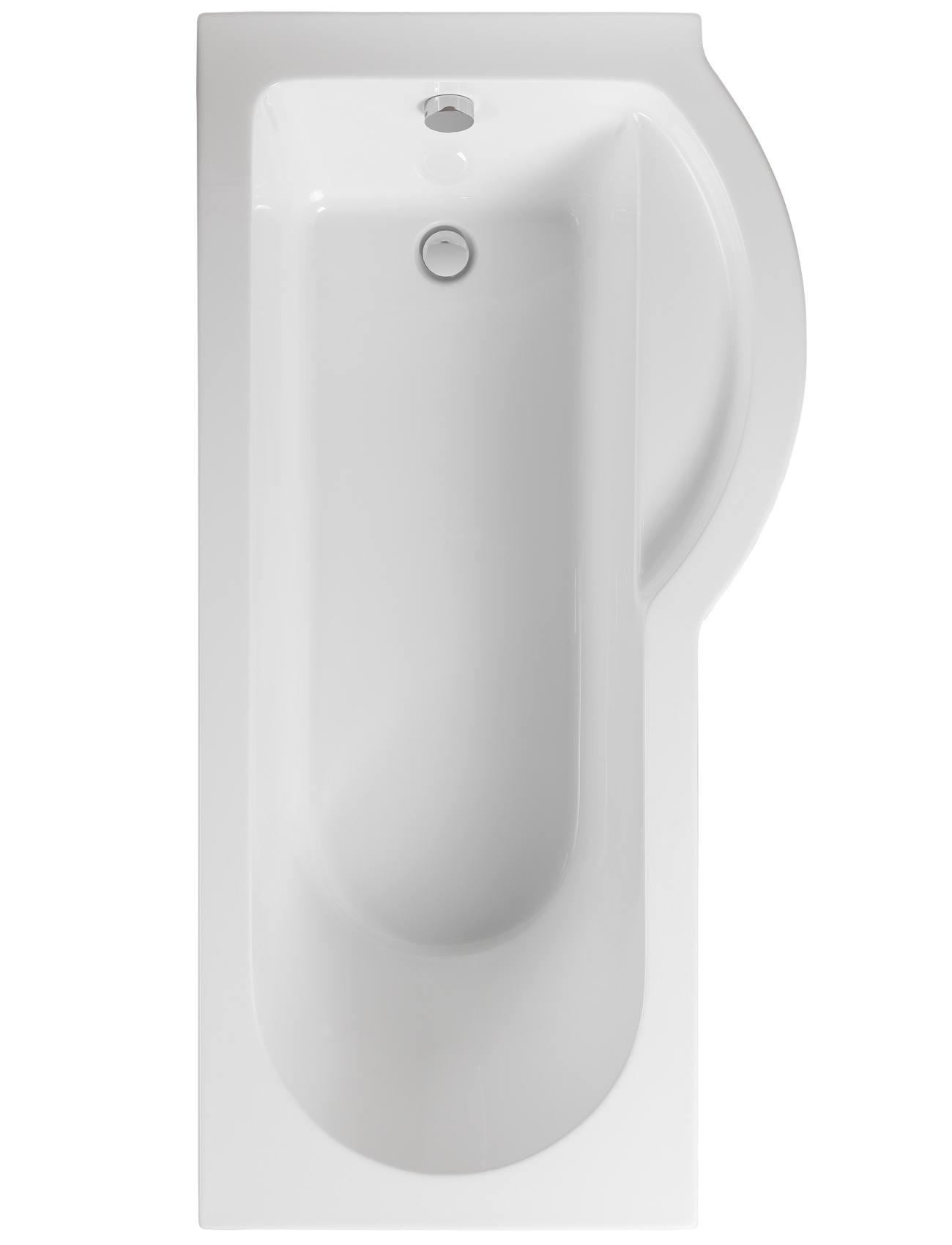 Pura Arco 1700 X 850mm Right Hand Shower Bath