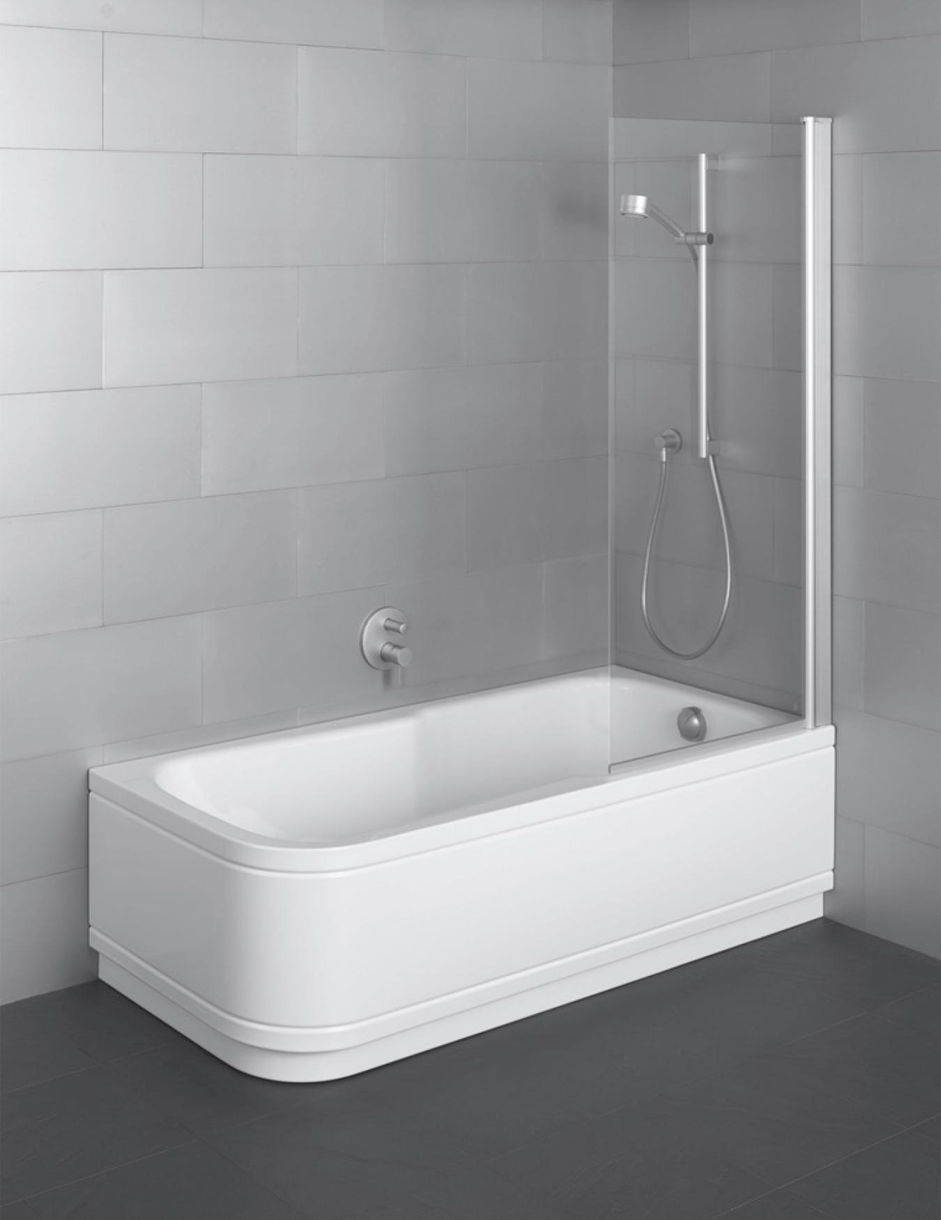 Set Comfort Corner Super Steel Shower Bath 1800 x 800mm LH