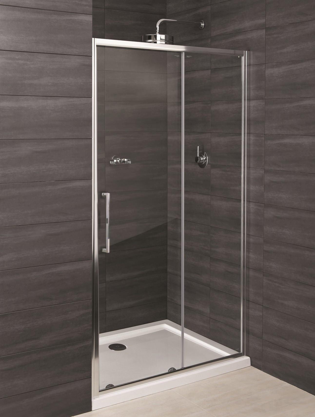 Rak deluxe 8 1000mm sliding shower door for 1000mm sliding shower door