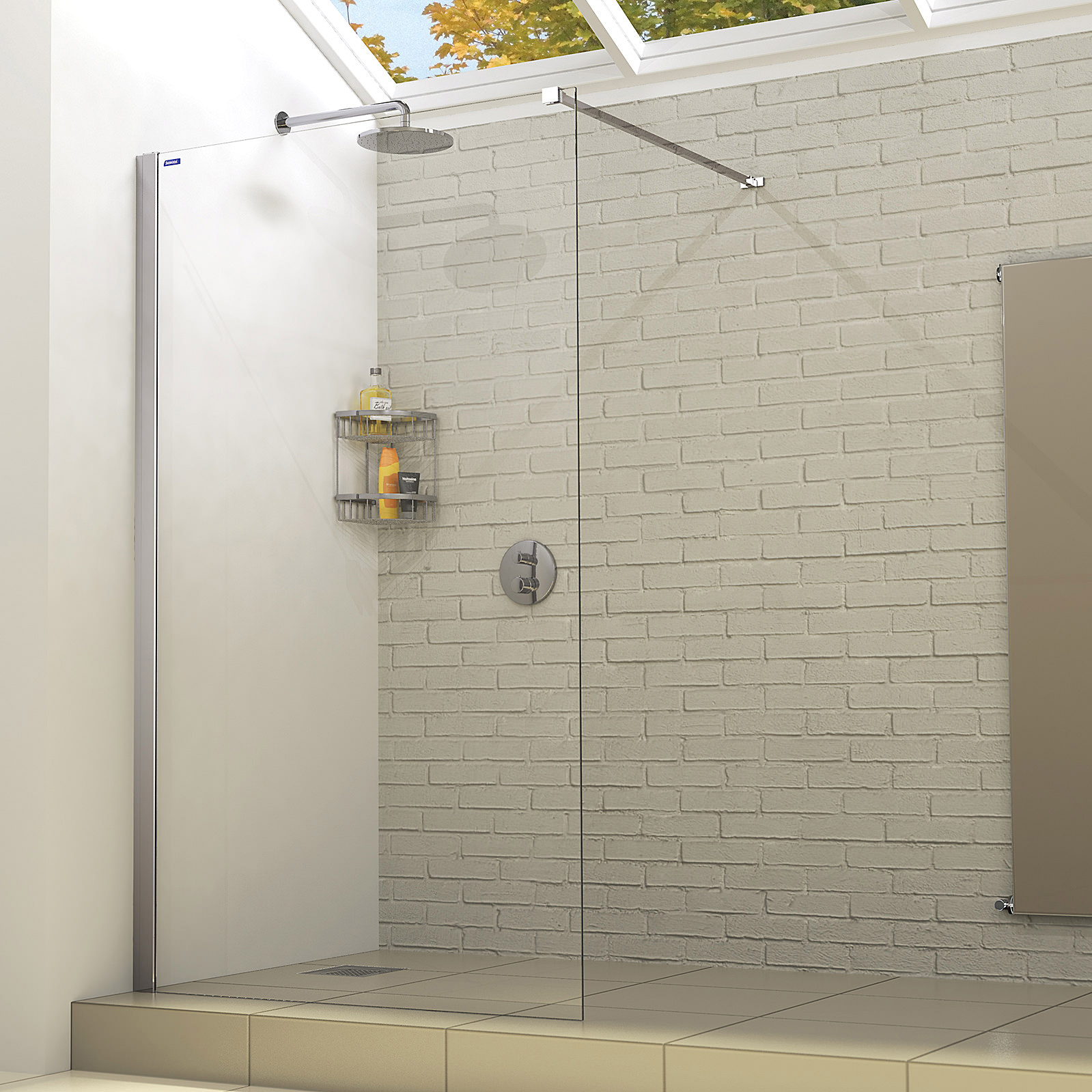 showerlux linea touch wetroom panel 1100mm