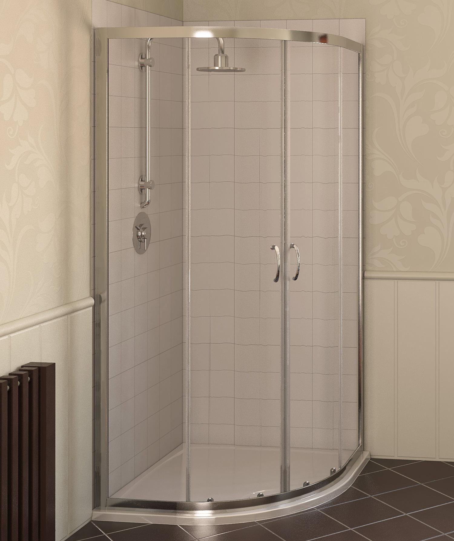 Aqualux Aqua 4 900 x 900mm Quadrant Shower Enclosure - White
