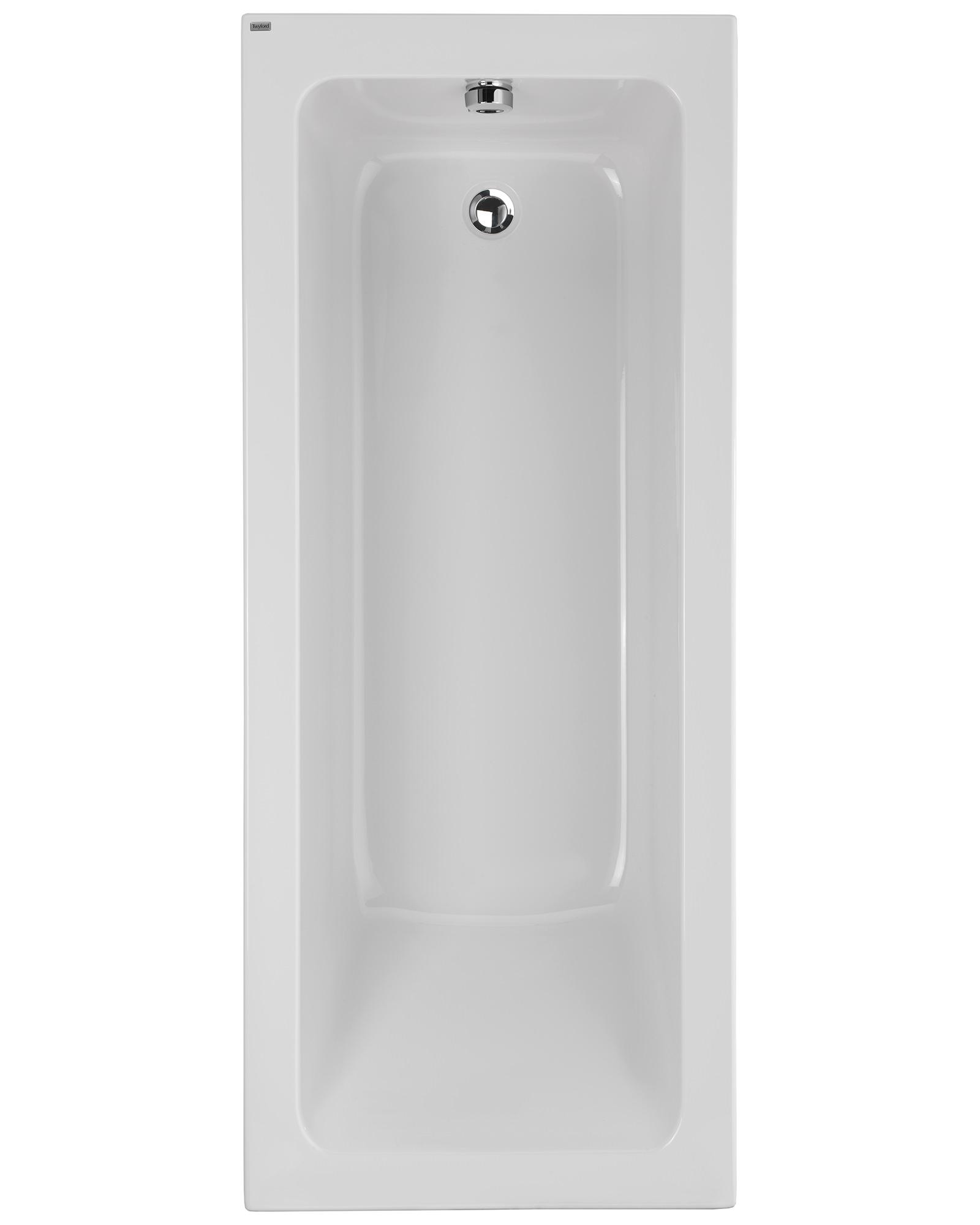 twyford aspect 1700 x 700mm no tap hole acrylic single ended bath