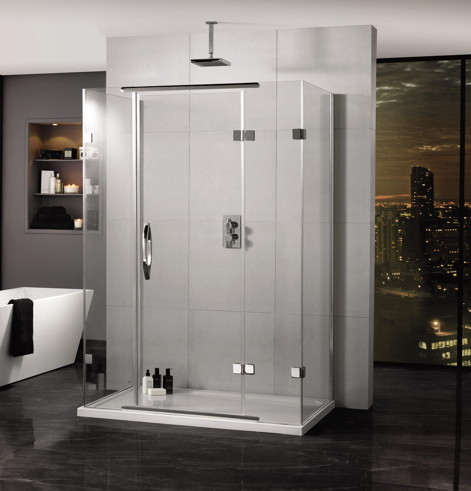 Inline 900 x 800mm 3 sided hinged shower door and side panels aquadart inline 900 x 800mm 3 sided hinged shower door and side panels vtopaller Gallery