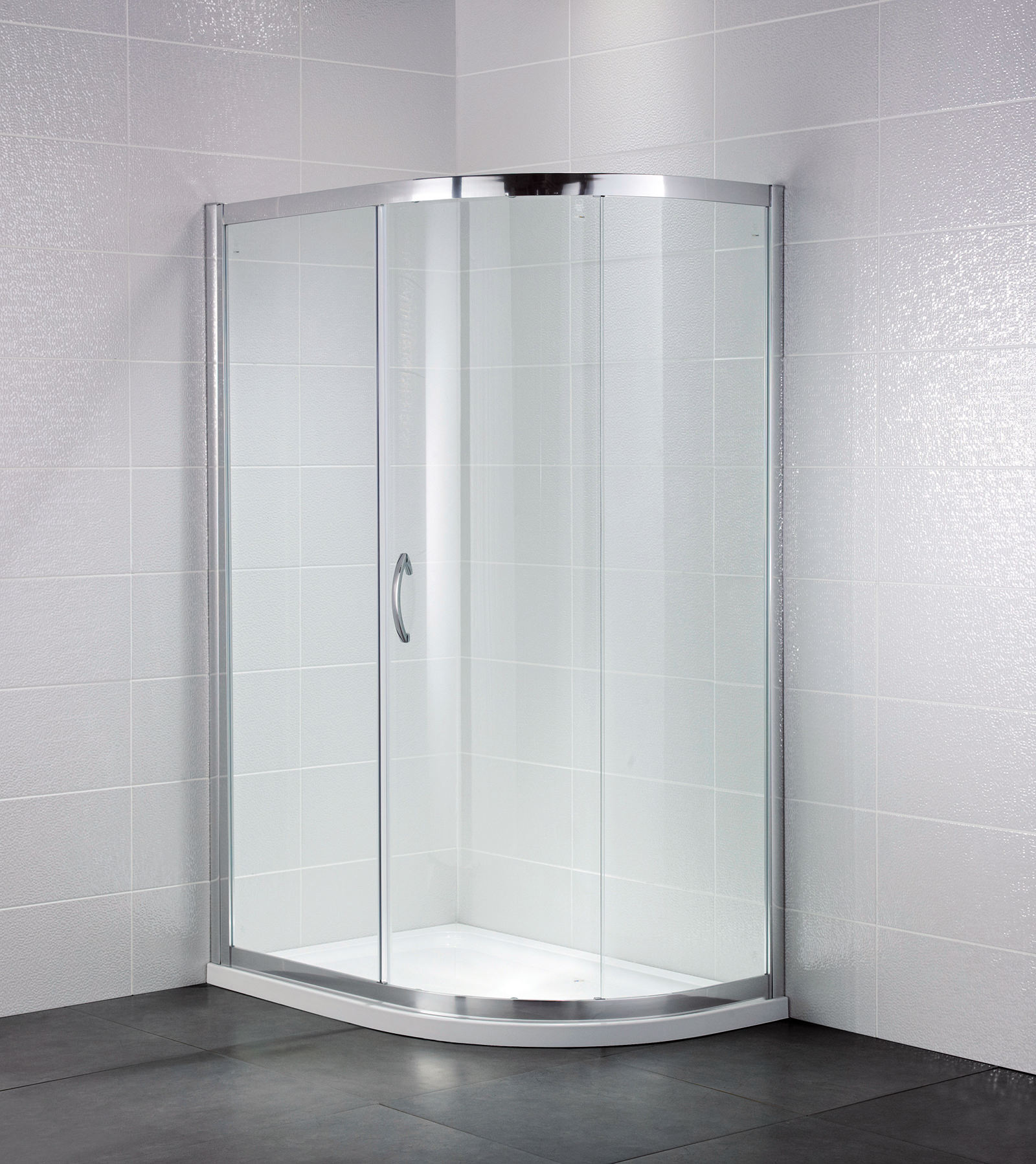 April identiti2 1200 x 900mm single door shower offset for Door quadrant