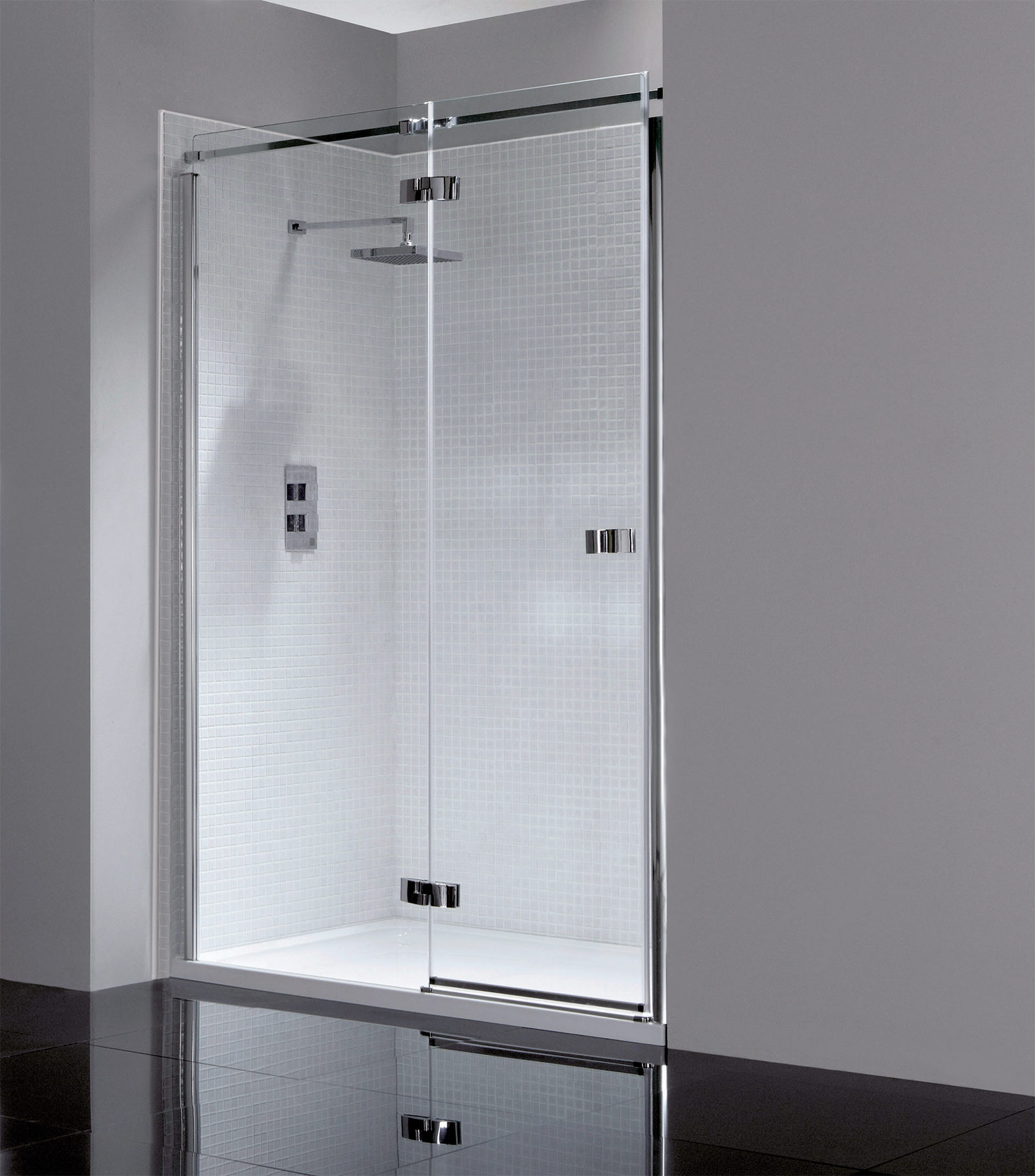 april prestige frameless 1000mm hinged shower door