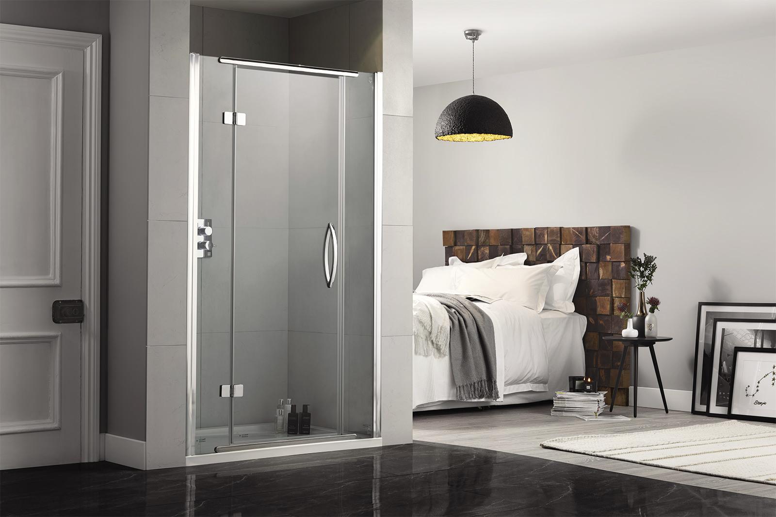 Inline 900mm recess hinged shower door aquadart inline 900mm recess hinged shower door vtopaller Gallery