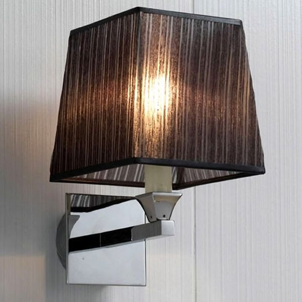 Black Wall Lamp Shades : Imperial Astoria Wall Lamp With Black Fabric Shade