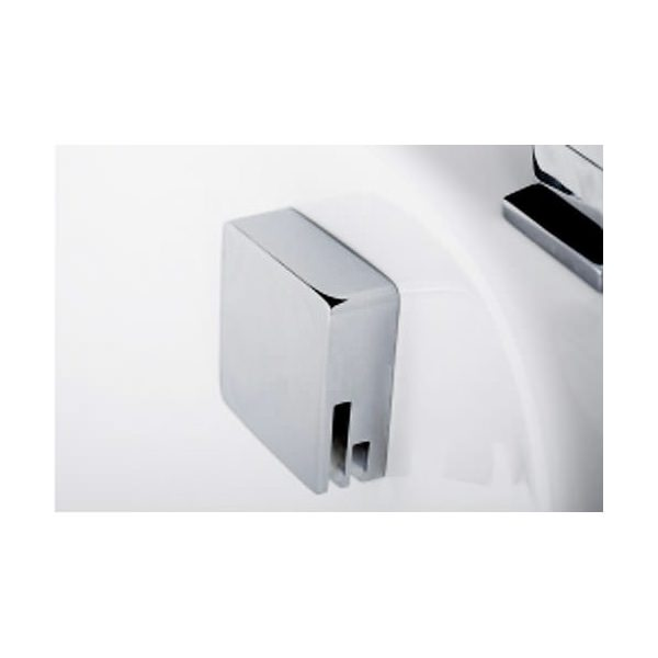 Tre Mercati Square Automatic Bath Filler With Clicker Waste Chrome