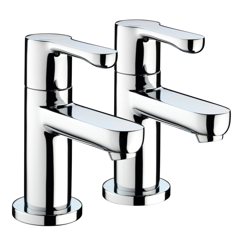 Bristan nero pair of bath taps for Bathroom accessories taps