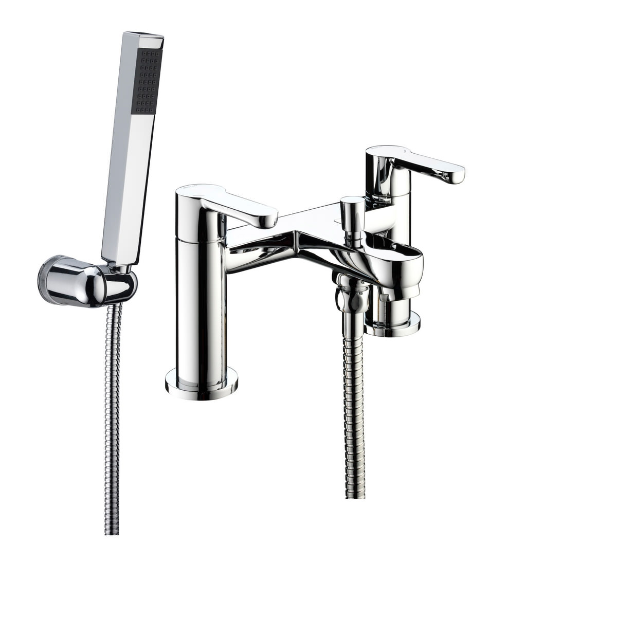 bristan nero bath shower mixer tap with shower kit. Black Bedroom Furniture Sets. Home Design Ideas