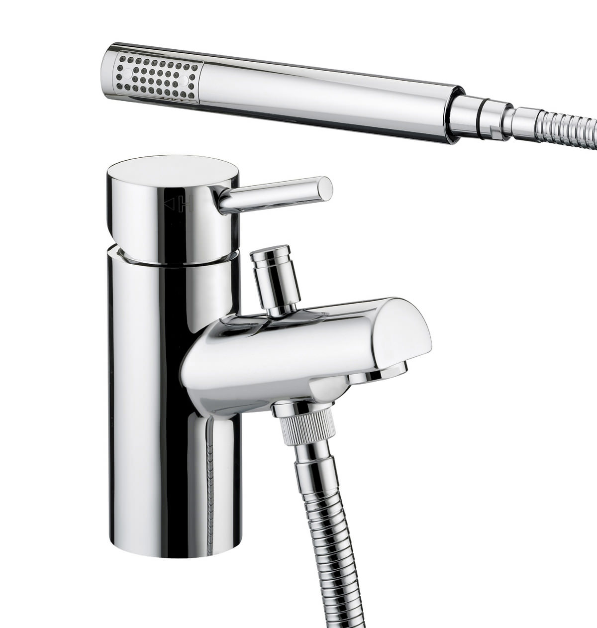 Bristan Prism One Hole Bath Shower Mixer Tap With Kit