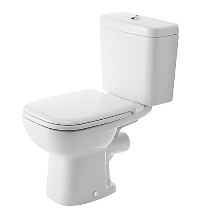 duravit d code 650mm close coupled toilet with horizontal outlet. Black Bedroom Furniture Sets. Home Design Ideas